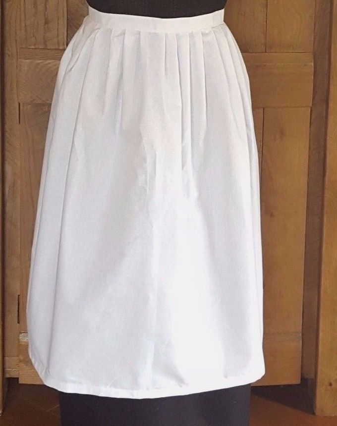 Adults White  Victorian Apron - Fancy Dress Victorian Edwardian Tudor