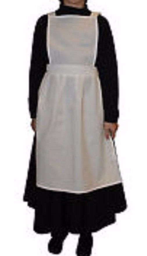 GIRLS POLYCOTTON APRON PINAFORE PINNY Victorian Tudor Edwardian Maid FANCY DRESS