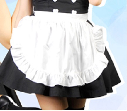 White 50's style cotton waist apron French Maid,Vintage retro